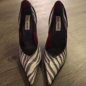 Shoes - Steve Madden zebra stripped pumps 6.5